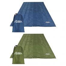 Andes Waterproof Multi Purpose Camping Tarpaulin Sheet Cover with Steel Pegs