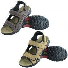 Andes Men's Leather Walking Hiking Trekking Summer Strap Sandals