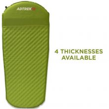 Adtrek Green 3/4 Length Self Inflating Mat With Pillow