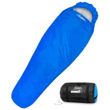 Andes 3 Season Blue Mummy Sleeping Bag for Camping, Hiking etc 300GSM Filling