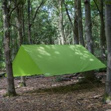 Andes Waterproof Camping Tarpaulin, 3m x 3m with Pegs & Guylines Included