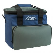 Andes Insulated 12V Electric Cool Bag Car Travel Picnic Camping 15L Cooler Navy/Grey
