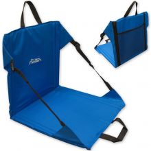 Andes Blue Folding Beach Chair/Stadium Seat