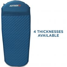 Adtrek Blue 3/4 Length Self Inflating Mat With Pillow