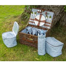 Andes 4 Person Luxury Wicker Picnic Hamper Set