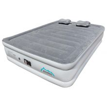 Andes Flocked Queen Size Inflatable Mattress/Air Bed with Built In Pump