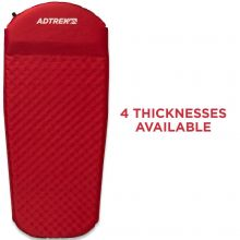 Adtrek Red 3/4 Length Self Inflating Mat With Pillow